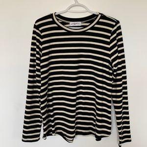 Carly Jean LA Striped Long Sleeve Top